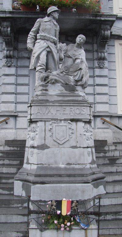Муниципалитет Pepinster. Памятник в честь жертв обеих войн.
