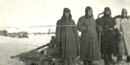 Хиви-ездовые. Зима 1941 г.