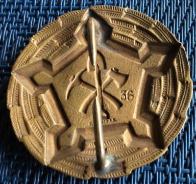Аверс и реверс знака военнослужащих инженерных войск 3-го класса.