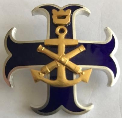 Аверс и реверс знака береговой охраны Финского залива.