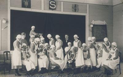 Курсы подготовки медиков в организации «Lotta Svärd». 1939 г.