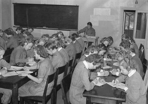 Курсы подготовки связистов в организации «Lotta Svärd». 1939 г.