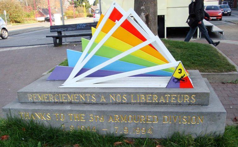 Муниципалитет Fleron. Памятник в честь освободителей 1944 г.