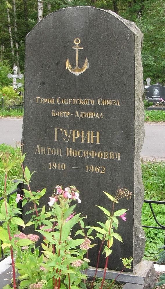 Памятник на могиле Героя Советского Союза Гурина А. И.