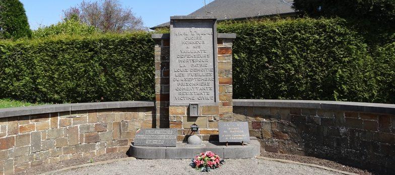 Коммуна Fraiture-en-condroz. Памятник комбатантам и жертвам обеих войн.