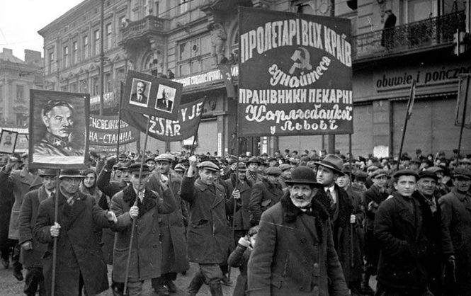 Демонстрация в годовщину Октябрьской революции. 7 ноября 1939 г.