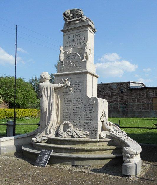 Муниципалитет Ретине (Retinne). Военный мемориал обеих войн.