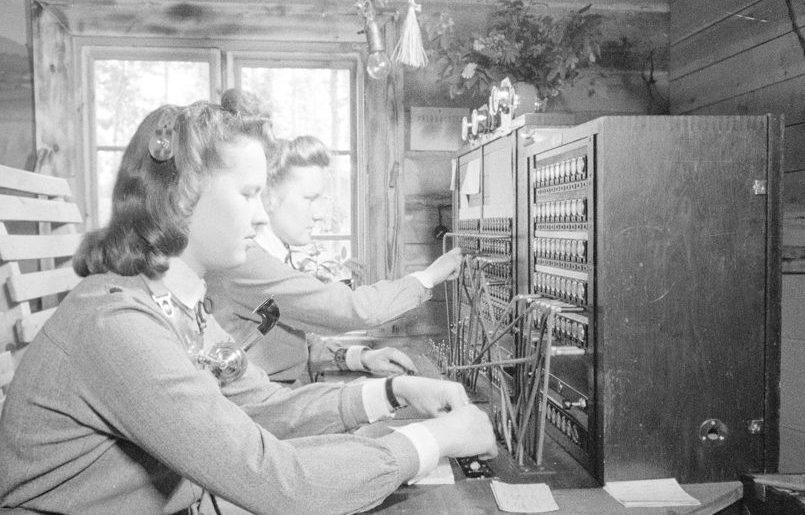 «Лотты» на телефонном коммутаторе. 1939 г.