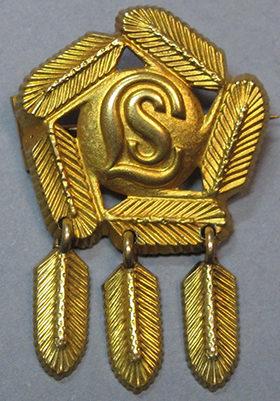 Золотой знак за участие в горнолыжном походе организации «Lotta Svärd».