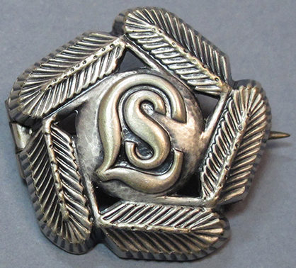 Серебряный знак за участие в горнолыжном походе организации «Lotta Svärd».