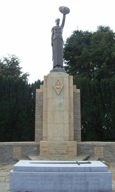 Коммуна Jandrrain-Jandrenouille. Памятник в честь французского кавалерийского корпуса.