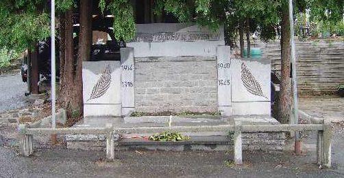 Муниципалитет Кин. Памятник погибшим в обеих войнах.