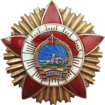 Орден «Красного знамени за воинскую доблесть» (тип IV).