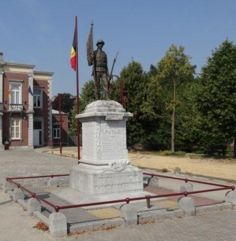 г. Rukkelingen-an-de-jeker. Памятник погибшим в обеих войнах.