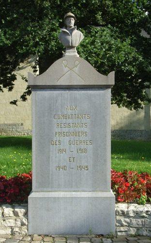 Коммуна Linsmeel. Памятник воинам, бойцам сопротивления и военнопленным, погибшим в годы Второй мировой войны.