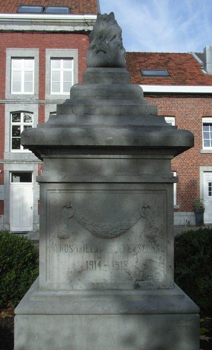 Муниципалитет Grand-rechain. Памятник воинам и жертвам обеих войн.