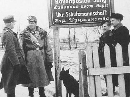 Охранная полиция из хиви. Украина, зима 1942 г.