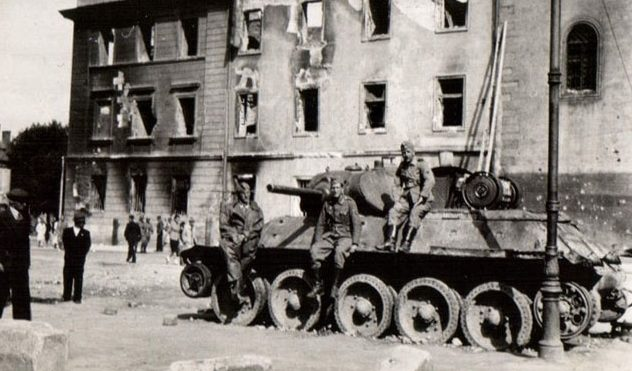Город во время оккупации. 1941 г.