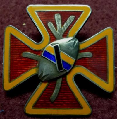 Аверс и реверс памятного знака батальона Вааса.