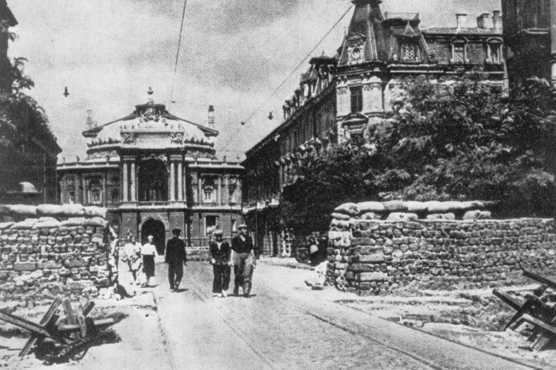 Улица Ришельевская во время обороны города. Осень 1941 г.