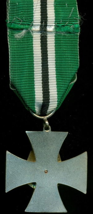Аверс и реверс памятного креста гражданской гвардии.