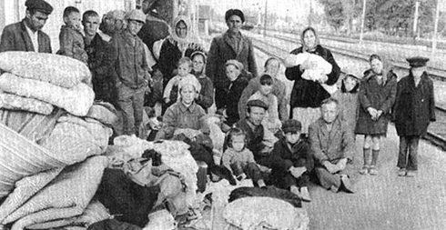 Депортация карачаевцев. 1944 г.