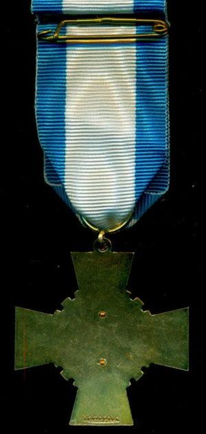 Аверс и реверс золотого креста «За заслуги» ассоциации ветеранов войны.