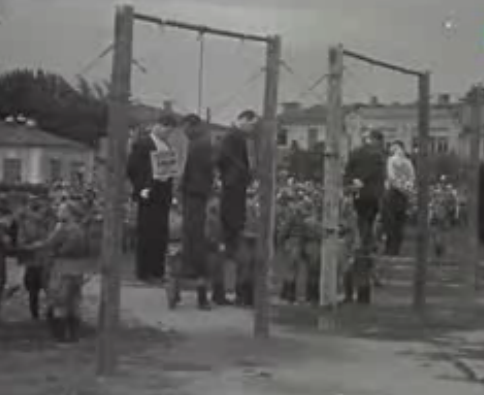 Первая казнь коллаборантов в Краснодаре. 14 июля 1943 г.