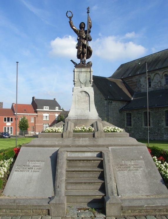 Муниципалитет Orp-Le-Grand. Памятник жертвам и воинам обеих мировых войн.