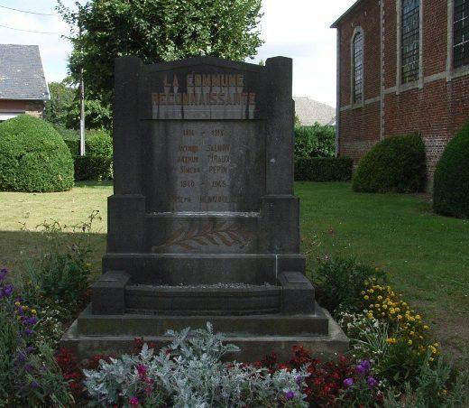 Муниципалитет Thorembais-Saint-Trond. Памятник, посвященный погибшим воинам в обеих мировых войнах.