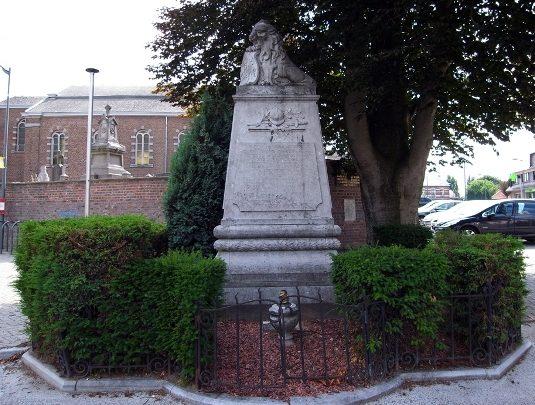 Муниципалитет Hermee. Памятник погибшим американским солдатам.