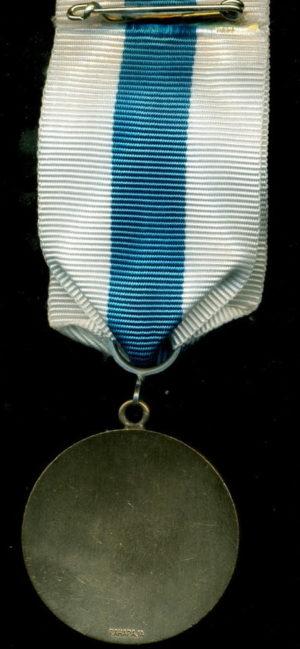 Аверс и реверс бронзовой медали «За заслуги» в финской ассоциации резерва.