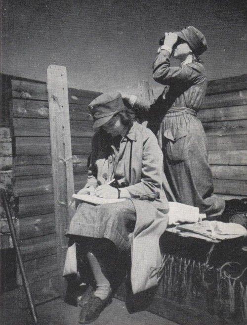 Расчеты ПВО из девушек «Лотты». 1940 г.