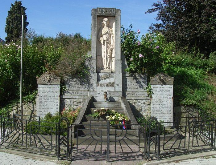 Муниципалитет Heur-le-romain. Военный мемориал обеих войн.