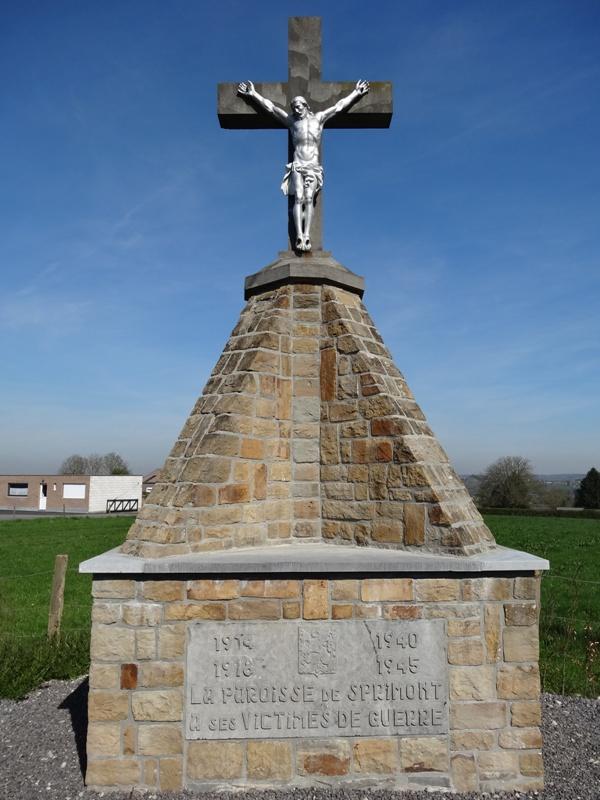 Муниципалитет Sprimont. Памятник прихода в память жертв обеих войн.