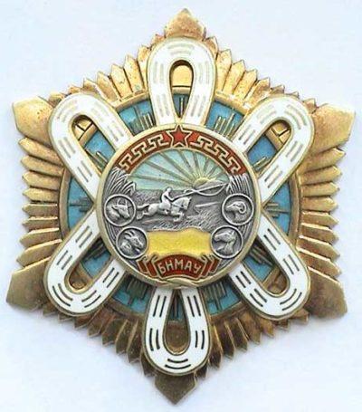 Орден «Полярной Звезды» (тип III), кириллическая надпись.