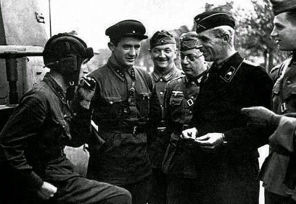 Общение «союзников». Брест, сентябрь, 1939 г.