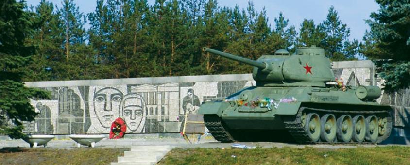 Один из танков на мемориале.
