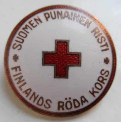 Аверс и реверс членского знака Финского Красного Креста.
