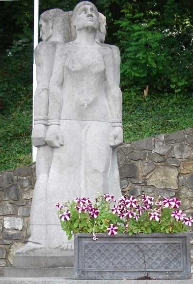 Памятник жертвам концлагерей.