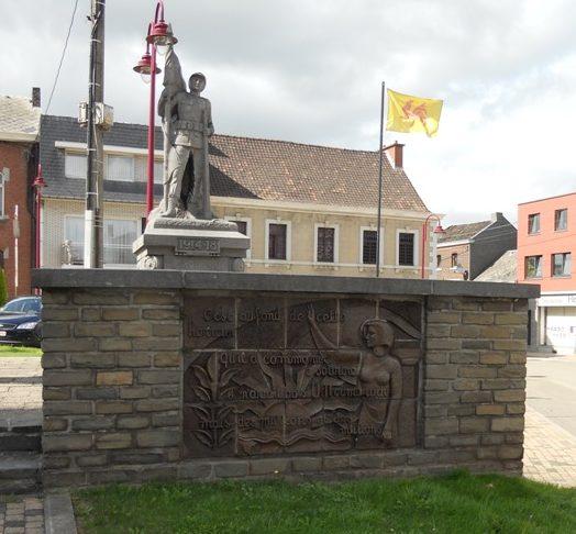 Муниципалитет Blegny. Памятник погибшим воинам обеих войн.