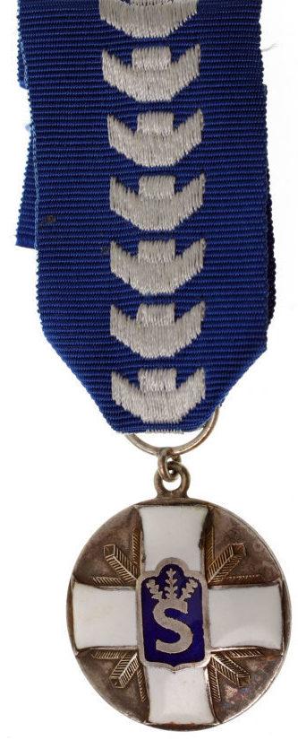 Аверс и реверс медали «За достижения» Шюцкора.