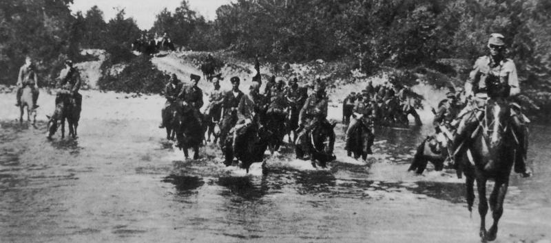 Хиви-кавалеристы на Северном Кавказе. 1942 г.