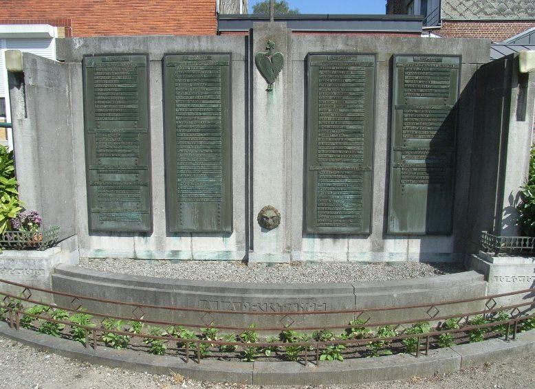 Муниципалитет Grivegne. Военный мемориал обеих войн.