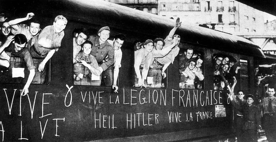 Добровольческий французский легион отправляется на Восточный фронт. 1941 г.