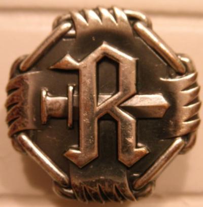 Аверс и реверс малого (185 мм) памятного знака 14-й дивизии.