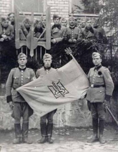 Полицаи Буковинского шуцманшафтбатальона. 1942 г.
