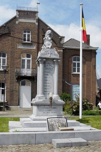 Муниципалитет Lanaye. Памятник погибшим воинам и жертвам обеих войн.