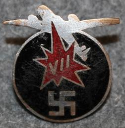 Аверс и реверс знака 7-го армейского авиационного корпуса.