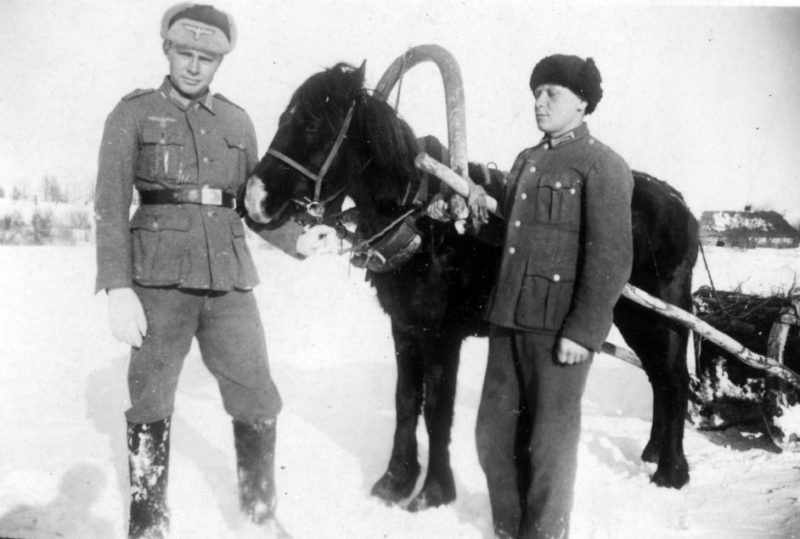 Хиви-обозники. 1942г.